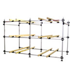 Dynamic Dollies 6 Boat Inflatable Storage Rack with Runners