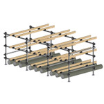 Dynamic Dollies 9 Boat Inflatable Storage Rack