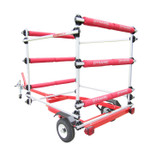 Dynamic Dollies 3 Boat Inflatable Storage Rack with Runners