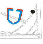 J Sail Optimist Black for Skippers 50kgs / 110 lbs +
