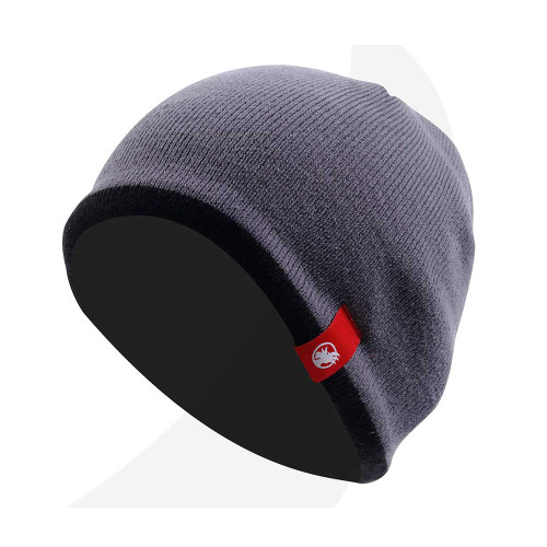 Rooster Fleece Lined Beanie Graphite (106067-GE)