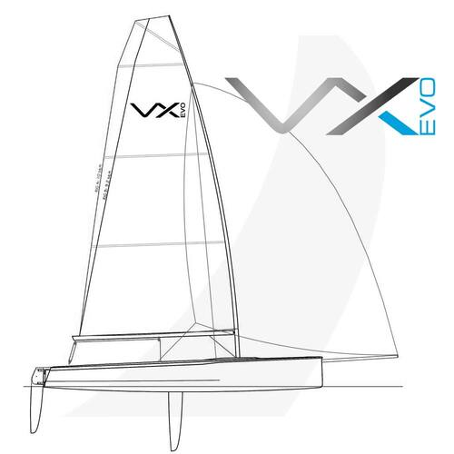 VX Evo Complete Sailboat Side View