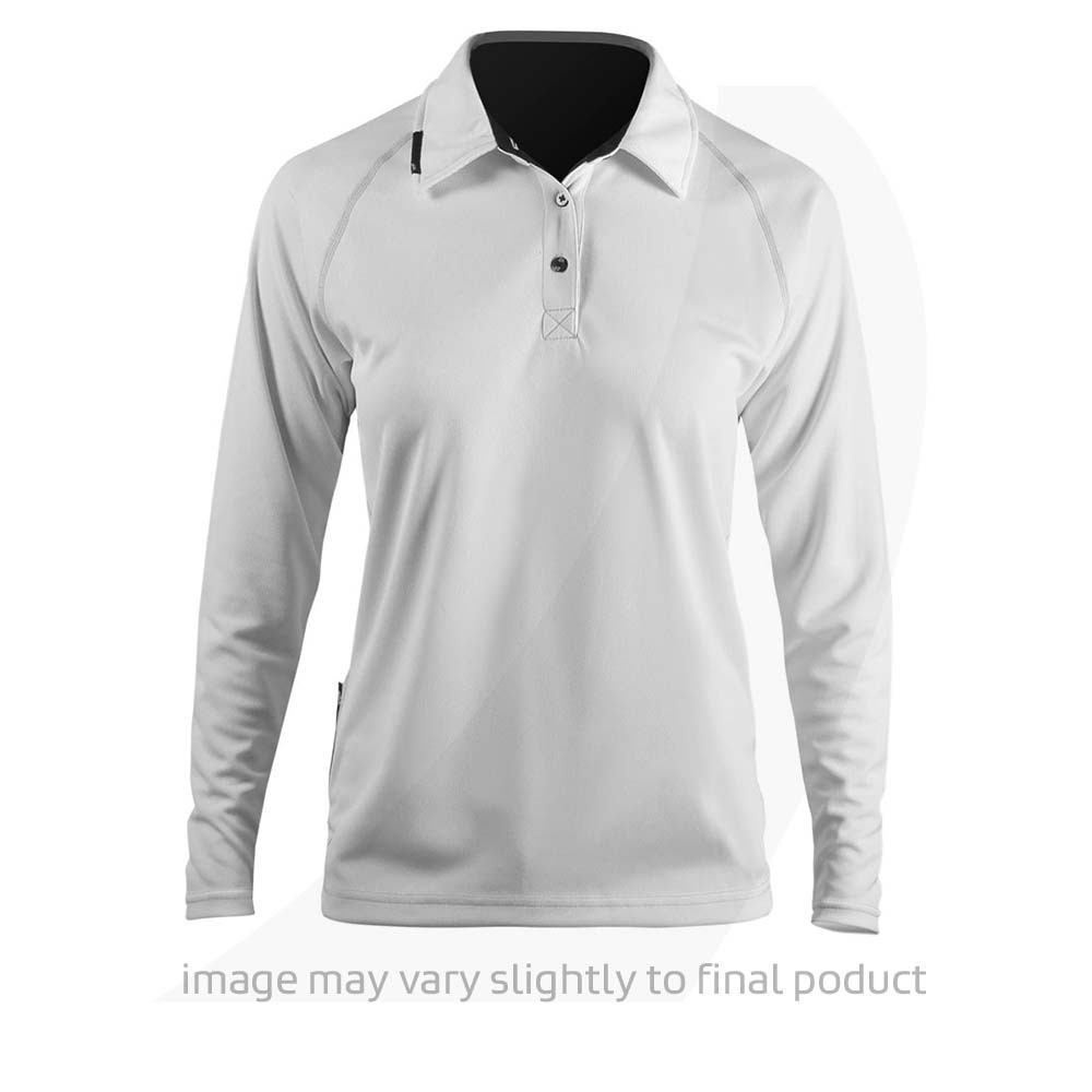 1a740cd8a Zhik Womens Long Sleeve Zhikdry LT Polo White