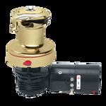 Harken Radial Rewind Electric Size 40 Polished Bronze Winch Horizontal 12 Volt DF Control Box