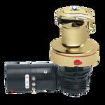 Harken Radial Rewind Electric Size 40 Polished Bronze Winch Horizontal 12 Volt DF Control Box Left Mount