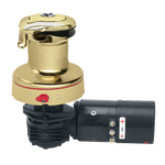 Harken Radial Rewind Electric Size 46 Polished Bronze Winch Horizontal 12 Volt DF Control Box
