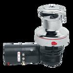 Harken Radial Rewind Electric Size 40 All Chrome Winch Horizontal 12 Volt DF Control Box Left Mount