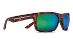 Kaenon Burnet Matte Tortoise Polarized Coastal Green Mirror Lens