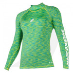 Magic Marine Women Cube Rashvest Long Sleeve Green 15001.180043