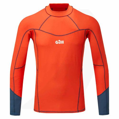 Gill Men's Pro Rash Vest Long Sleeve Orange 5020 Front View