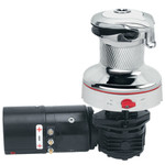 Harken Radial Rewind Size 40 Electric Chrome Winch White - Left Mount HR40RWCW24HLM
