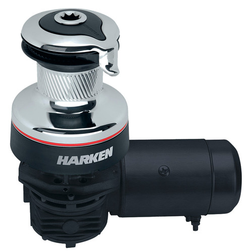 Harken Radial 2 Speed Electric ST Size 46 Chrome Winch Horizontal 12 Volt