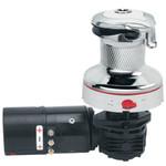 Harken Radial Rewind Size 60 Electric Chrome Winch White - Left Mount HR60RWCW24HLM
