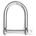 "Hi-Mod Shackle Wide ""D"" Std Pin - 3/8"""