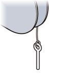 Laser Performance Laser Tiller Retaining Pin w/Line