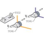 Laser Performance Laser Harken Deck Plate w/Blocks