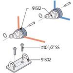 Laser Performance Laser Deck Plate w/ Harken Blocks