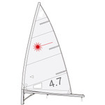 Laser Performance Laser 4.7 Sail by Hyde Sails (Folded)