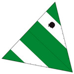 Laser Performance Sunfish Recreational Sail, Green & White
