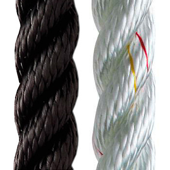 New England Ropes 3-Strand Nylon for Anchoring and Docking (white) 5/8""