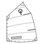 Optiparts Sail, Optiparts Club, w/Logo, Window and Class Button