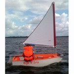Optiparts Tri Sail, white (not class legal)