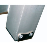 Optiparts Dolly Foot Protector, stainless steel w/ Rivets