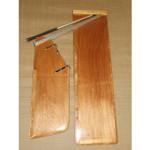 Optiparts Blade Set, Wood, w/ fittings & EX1130 tiller+extension