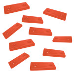 Optiparts Mounting plate, 2 hole, Nylon, red , 10 pack