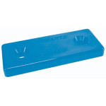 Optiparts Mounting plate, 2 hole, Nylon, blue