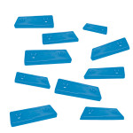 Optiparts Mounting plate, 2 hole, Nylon, blue, sold as 10 pack