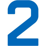 "WinDesign Sail number, 12"" blue"