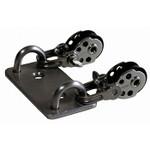WinDesign Double pad eye with 2 Harken blocks