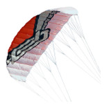 Ocean Rodeo RAM Air 1.5 SLE Trainer Kite with pack harness, control bar and lines.