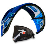 Ocean Rodeo React 2m SLE Trainer Kite with pack harness, control bar and lines.