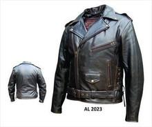 Allstate Retro Brown Buffalo Men's Premium Leather Motorcycle Biker Jacket