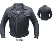 Men's Allstate Double Pistol Pete Premium Buffalo Motorcycle Jacket