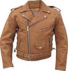Brown Buffalo  Nubuck Mens Leather Motorcycle biker Jacket