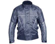 WATERPROOF INSULATED ARMORED MOTORCYCLE JACKET NEW Black & Grey Closeout