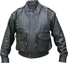 MENS BLACK BOMBER PREMIUM COWHIDE LEATHER JACKET