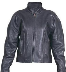 Black Soft Naked Leather Womens Motorcycle biker Jacket CLOSEOUT