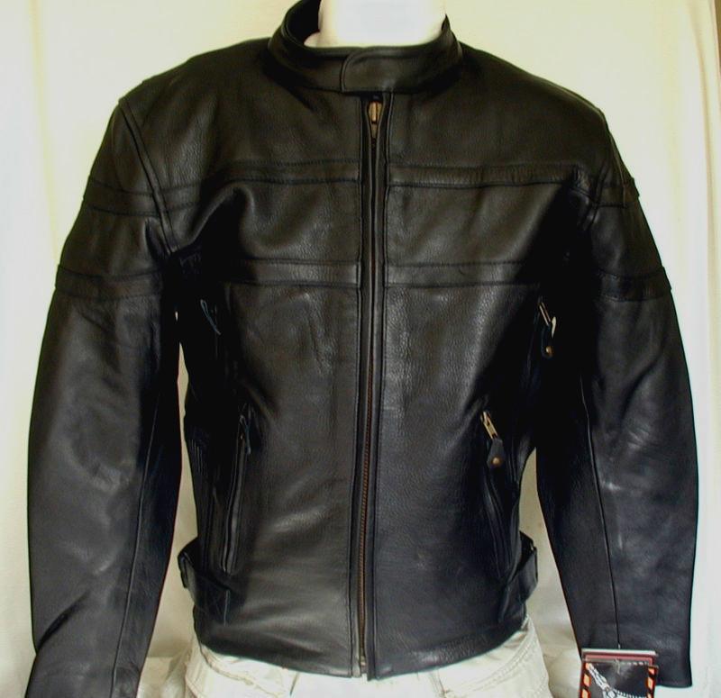 Womens Premium Naked Black Leather Motorcycle biker Jacket  $229 S,XL,2XL,3XL