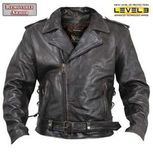 Distressed Armored Retro Brown Premium Leather Motorcycle Biker Jacket