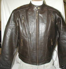 Bigfoot Premium Retro Brown Leather Touring Motorcycle biker Jacket Retail $249 CLOSEOUT 4XL,5XL