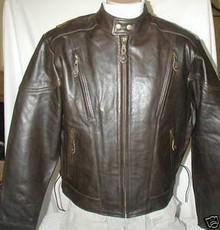 Bigfoot Premium Retro Brown Leather Touring Motorcycle biker Jacket Retail $249 CLOSEOUT