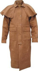 Mens Allstate Duster Buffalo Brown Buff Leather Jacket with Zip out Lining 48-54