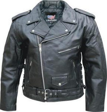 MENS SOLID LEATHER MOTORCYCLE JACKET SPECIAL BUY