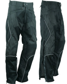 Mens / Womens Mesh All Season Armored Motorcycle Pants W/Zip Out Waterproof Liner
