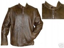RETRO BROWN BEAUTIFUL  DISTRESSED LEATHER  JACKET 2XL Closeout
