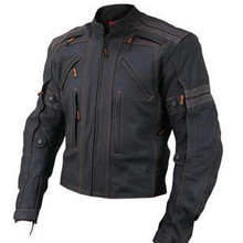 AAA Black Vulcan Street Racer Premium Leather Motorcycle Biker Jacket